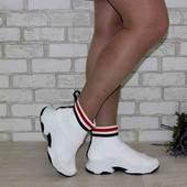 Трикотажные женские кроссовки- носки