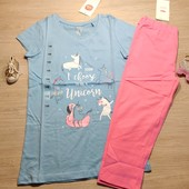 Германия!!! Комплект для девочки: коттоновая футболка и капри! 146 рост! 279 грн и 149 грн по ценник