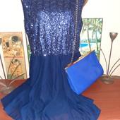 Распродажа! Красивое летнее платье вверх усыпан пайетками,размер М.