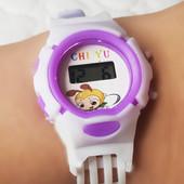 Наручные детские электронные часы ( время и дата, секунды) , силиконовый браслет