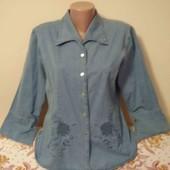 новая джинсовая рубашка пог. 54