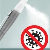 2 в 1!!!Ручка+ёмкостью и распылитель.1шт./заливается антисептик или любимые духи/