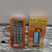 Ручной большой аккумуляторный фонарь 6+18тлед ламп.