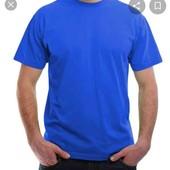 сині 100%cotton футболки нові