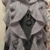 Шикарный романтичный пушистый длинный шарф р. 190Х33 см.