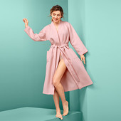 ☘ Жіночий халат з вафельного піку від Tchibo (Німеччина), розміри наші: 54-58 (48/50 євро)