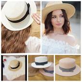 новиночка!шляпка-канотье.в 2 цветах .
