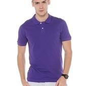 Качественная хлопковая футболка-поло C&A, р.s, сиреневая