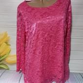Вау! Шикарная кружевная блуза секонд люкс с биркой размер 50