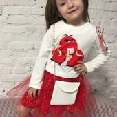 Ну дуже класна новиночка Нарядні оригінальні вишукані платтячка з фатіном сумочкою і гарним орнамент