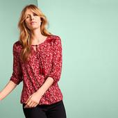 Комфортная блуза из вискозы от Tchibo Германия размер евро 44/46 (укр 50/52)