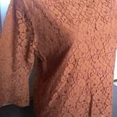 Кружевная блуза на подкладке в интересном цветовом решении