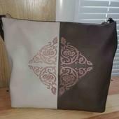 сумка кожа с вышивкой