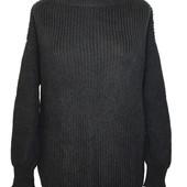 Шикарный удлиненный пуловер оверсайз,с рванными концами Forever 21-тренд этой весны 2021