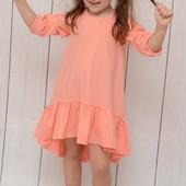 Очаровательные платья для маленьких модниц. Смотрим замеры.Цвет Кофе с молоком