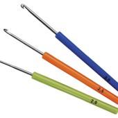 Новый в упаковке набор! Крючок для вязания (2,0; 2,5; 3,0), набор 3 шт, разноцветный
