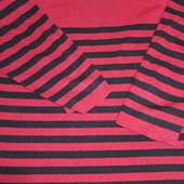 Полосатый свитерок- цвет спелая вишня размер 54/56/58