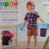 Комплект 3 шт футболки на мальчика Lupilu Германия размер 110/116