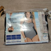 Германия!!! Шикарная сдельный купальник-полосатик для пышных форм! 46 евро!