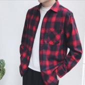 Стильная мужская качественная фланелевая рубашка