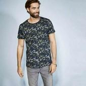 livergy.классная хлопковая футболка с принтом камуфляж М48/50 замеры
