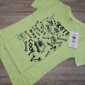 Польша! Cool club! Модная салатовая футболка на мальчика, размер 128 см рост