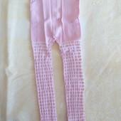 Леггинсы Bross р.86-92 и р.98-104, цвет сиреневый, белый, розовый. Отличное качество!