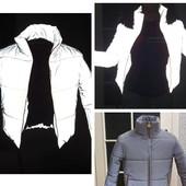 Светоотражающая куртка состояние идеальное демисезон S-M