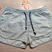 Бершка! Лёгкие джинсовые женские шорты, шортики! М размер полный!
