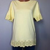 Качество! Натуральная блуза/футболка/перфорация от Yessica от C&A, в новом состоянии