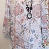 Красивая футболка-блузка на шикарные формы.р 54-56.