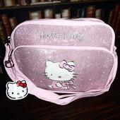 Большая розовая сумочка Hello Kitty с глитером