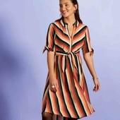 Бомбезное вискозное платье на пуговках Esmara S евро 36+6(42)