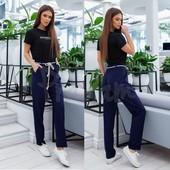 Легкие, стильные льняные брюки свободного кроя! Плотненькие, идеально на осень-весну.