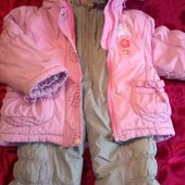 Зимний комплект  куртка и полукомбинезон.