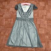 Серое платье от Monsoon uk14, фатин, стеклярус и шелк.