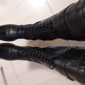 Шикарні повністю шкіряні чобітки