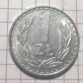 Монета Польши 1 злотый 1988