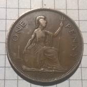Монета Великобритании 1 пенни 1937