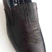Кожанные туфли чёрные классические ТМ Meekone!!! Размер на выбор.