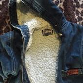 Теплая джинсовая куртка