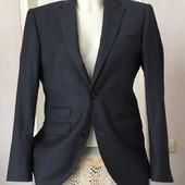 Классный! Брючный однобортный костюм Next tailoring 36 S 91,5 /70% wool slim fit