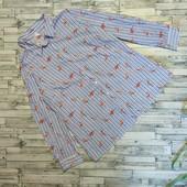 Роскошная рубашка с фламинго 100% коттон Новая