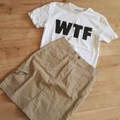 Коттоновая юбка C@A миди поб 50 см Смотрим замеры