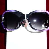 Яркие солнцезащитные очки, UV400, лиловый
