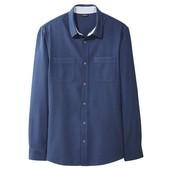 Стильная структурная рубашка мужская от livergy германия,размер м 48/50(ворот 39/40см)