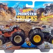 Лот=2шт! Хот Вілс набір з 2-х металевих машин Hot Wheels monster demo doubles trucks оригінал.