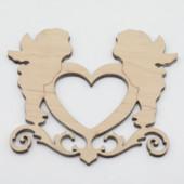 Деревянные заготовки из фанеры. Ангелы и сердце +