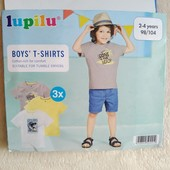 Набор футболок Lupilu 98-104 на 2-4года