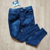 Зауженные джинсы скинни рванки pepperts на девочку 10-11 лет. замеры